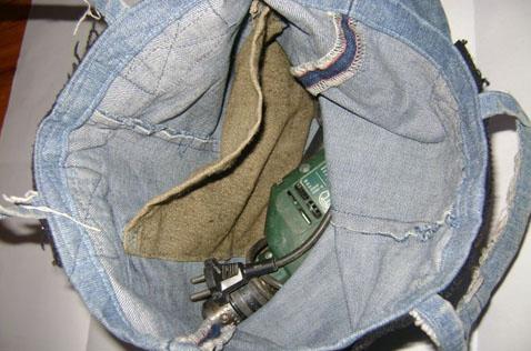 Получилась простая рабочая сумка-торба со следующими размерами: Ширина...